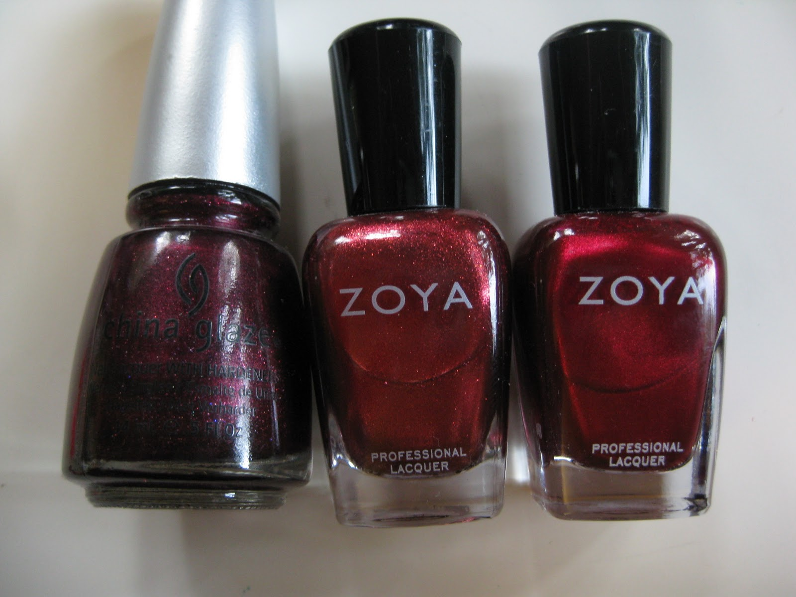 Nail Polish Comparisons: Metallic Reds – yukieloves.com