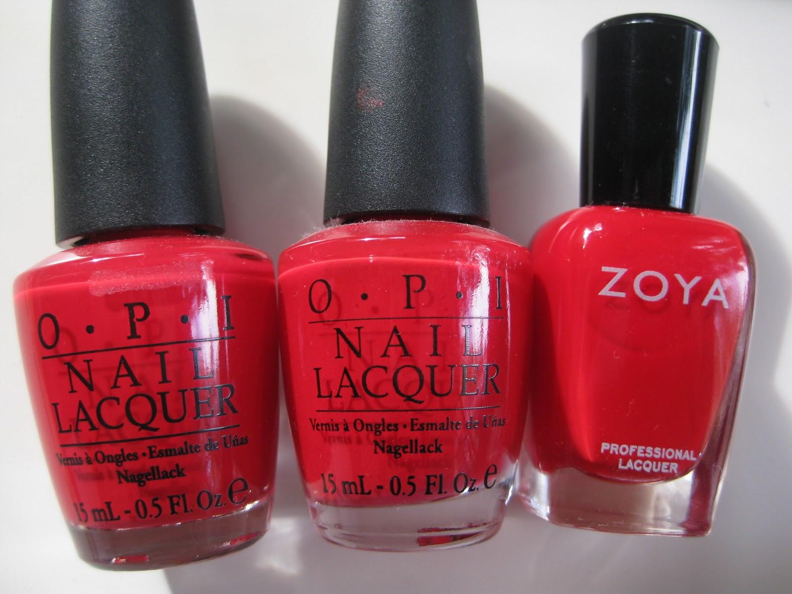 Nail Polish Comparisons: Bright Red Cremes – yukieloves.com