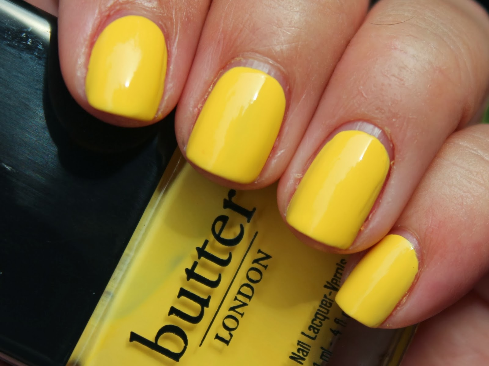 "Instagram 31 Day Nail Challenge: Day 3 ""Yellow"" – Butter London Cheeky Chops"
